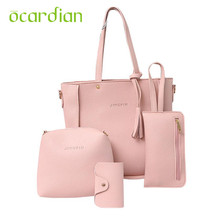 Ocardian Elegance New Women Tassels Leather Shoulder Bag+Crossbody Bag+Clutch Wallet+Card Hold 17Jun19 Dropshipping