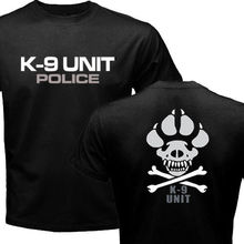New K-9 Special Unit Police Dog Canine T-shirt Men's Short Sleeve Cotton Top Tee Shirt(China)