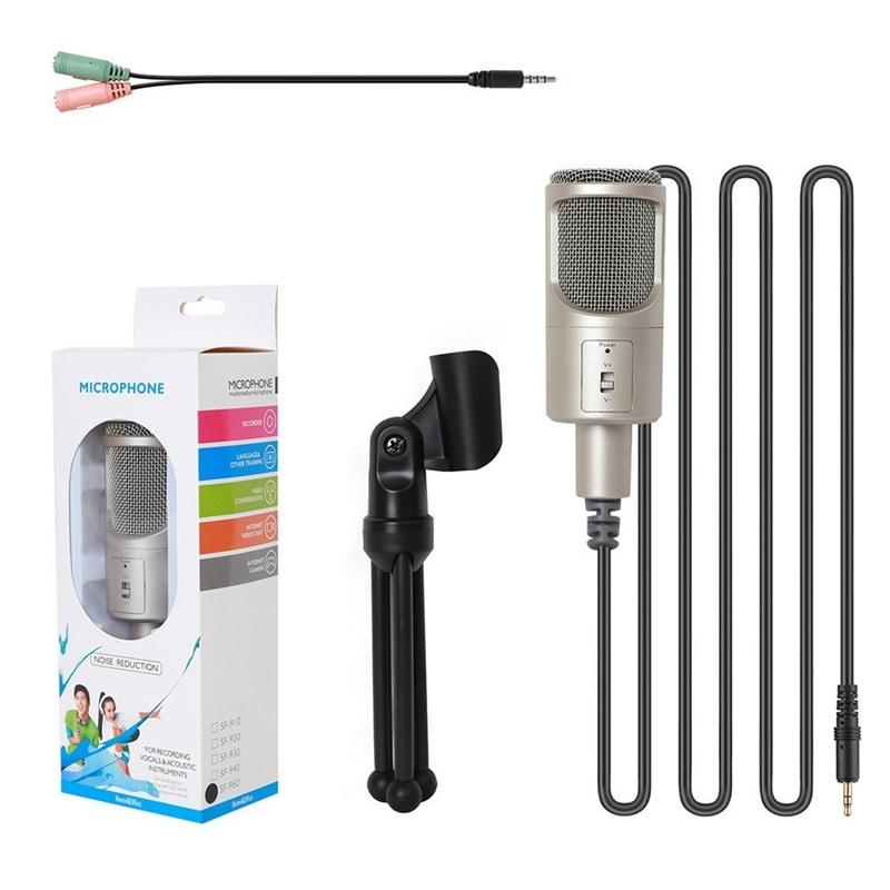 New-SF-960-Microphone-3-5mm-Interface-Computer-Microphone-Capacitor-with-Stent-for-Game-Chat-Song