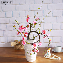 Luyue Official Store Artificial Wintersweet Festival Home Decoration 42.91in Plum Flowers 2 Color(China)