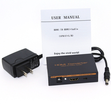 1080P HDMI to HDMI Optical SPDIF Suppport 5.1 + RCA L/R Audio Video Extractor Converter Splitter Adapter