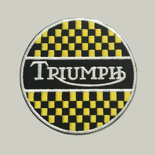 Triumph custom logo patch iron on cloth hat or bag free shipping can be custom embroidery factory in china F114