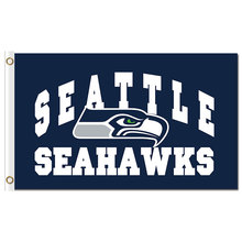 3X5ft arch polyester printed sports team man cave seattle flag with white sleeve grommets(China)