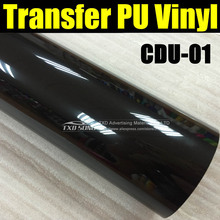High quality CDU-01 BLACK PU transfer vinyl, Heat transfer vinyl film for fabric shirts with size:50X100CM/LOT