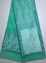 CYL630(6)Latest design African french net lace fabric for evening dress 5 yards per piece free shipping by DHL ! green