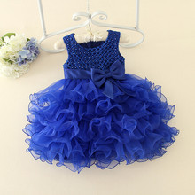 Kids Flower Girl Wedding Dresses Infant Summer Party Dresses Princess Baby Tutu Dresses Children Christmas Costume Dress 0-7Y(China)
