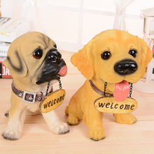 """Welcome"" Dog Resin Crafts High-grade Beautiful Home Furnishing Articles Home Decoration Accessories Dog Resin Crafts"