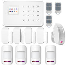 English Voice GSM Autodial Home Security Fire Alarm System+iOS App/ Android App Alarmeswith Wireless Curtain PIR Motion Detector