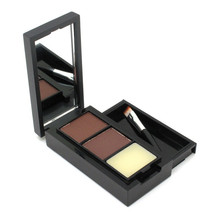 Hot Sale Professional Eye Shadow Eye Brow Makeup 2 Color Eyebrow Powder + Eyebrow Wax Palette + Brush + English Instruction(China)