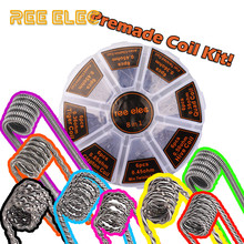 8 in 1 Alien Fused Tiger Clapton Coil Mix Twisted Flat Twisted Hive Quad Premade Coils Kit For RDA RTA Atomizer Prebuilt Coil(China)