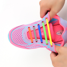 Fashion New Shoelaces Elastic Shoe Laces Creative Silicone Laces Silicone Shoelaces Sneakers Fit Strap Unisex Athletic Shoelace(China)