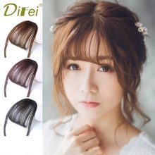 Buy DIFEI Short Straight Flat bangs Heat Resistant Synthetic Hair Women Hair Pieces Natural Short Fake Hair Bangs for $2.88 in AliExpress store
