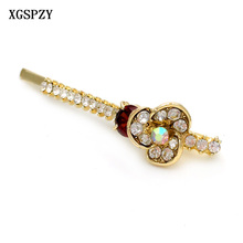XGSPZY 6pcs Fashion Women's Headwear Round Zircon Hairpins Hairgrips Line Flower Crystal Rhinestone Hair Barrettes Accessories(China)