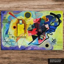 DP ARTISAN WASSILY KANDINSKY Yellow Red and Blue PAINTING Wall Painting picture leaf Home Decorative Art Picture Prints04018739