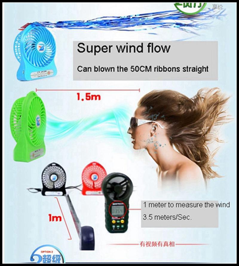 LISHUO USB rechargeble Mini Fan 8
