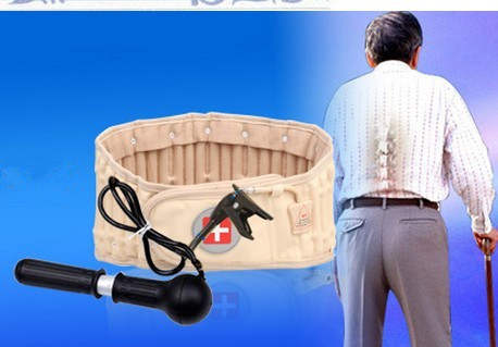 Gift spinal traction physiotherapy air back to relief support low back pain waist support back massager<br>
