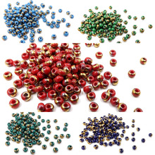 CHOOSE COLOR! 6/0 Czech Rund Glass Seed Beads Rocailles DIY Fashion Jewelry Make 200pcs (3.7-4.3mm)