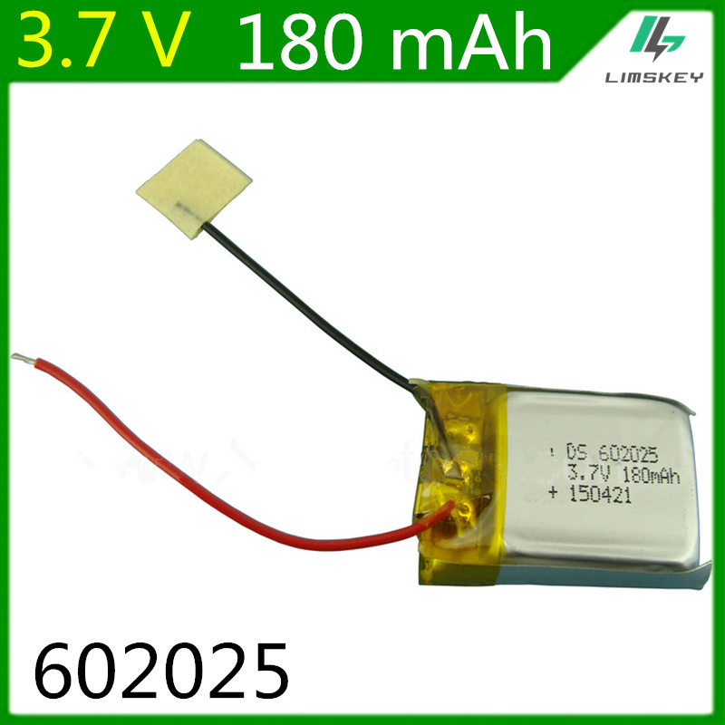 3.7V 180mAH 2pcs /lot remote control helicopter remote control aircraft accessories Lipo battery 3.7 V 180 mAH 602025 Z008(China (Mainland))