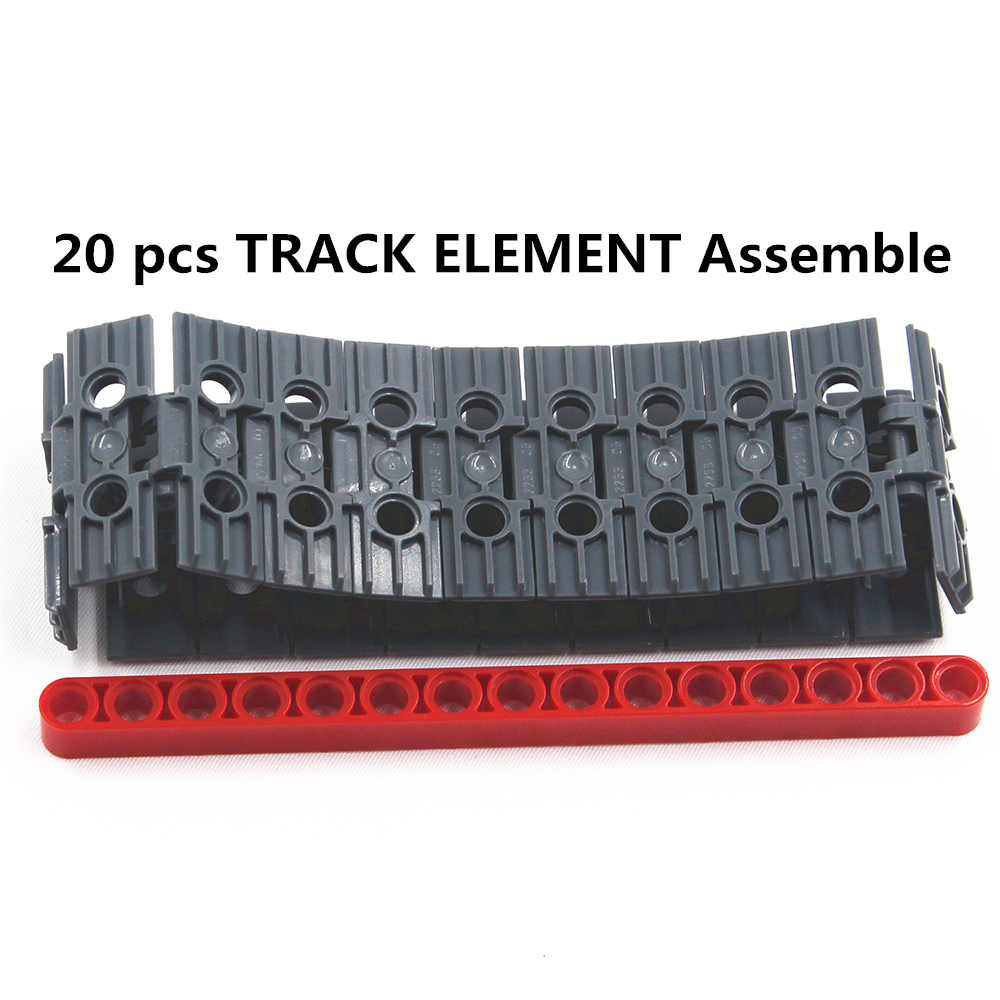 Self-Locking Bricks free creation of toy Technic TRACK ELEMENT, 5X1.5 20Pcs compatible with Lego NOC6014648-20