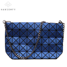 Hot Sale Fold Over Women Messenger Bag Japan&Korean Style Famous Brand Handbag Matt Surface Diamond Lattice Chain Shopping Bag