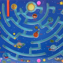 New Walking Beads Magnetic Maze Toy Transport City Planning a Variety of Child Puzzle(China)
