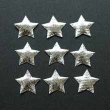 500PCS/LOT Christmas Decorations silver star applqie patch Merry Christmas Ornament supply(China)