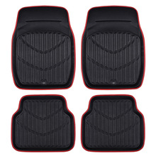 Car-pass New Arrival Universal Car foot mat for auto anti-slip mat Red Black Car Floor Mats Car Styling Interior Auto floor mats(China)
