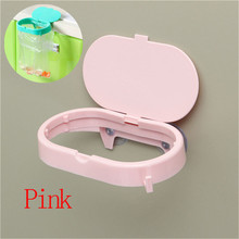 Kitchen Sink Suction Cup Storage Rack Pink Green Strong Clamshell Garbage Bags Fixed Shelving Home Portable