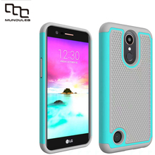 Mundulea 2 IN 1 Anti-slip Wave point Patter Cover for LG K10 LV5 Case Active Silicone+PC Coversfor LG K20 plus Cases Shockproof