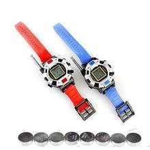 New 2 Pieces/Lot New Digital Walkie Talkie Watches Toys For Kids Interphone Toy with Antenna(China)