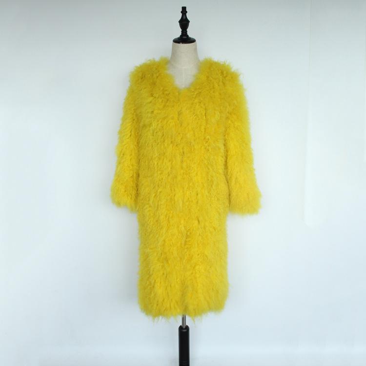 women natural lamb sheep fur coat (10)