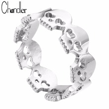 Top Quality Wholesale Skull Unique Heart Skeleton Ring Boho Hip hop Jewelry Love Round Knuckle Nail Toe anillos feminine Bijoux(China)