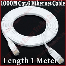 BEST PRICE BEST QUALITY, New 3FT 1M Gigabit CAT6 CAT 6 Flat UTP 1000M Ethernet Network Cable RJ45 Patch LAN Cord,