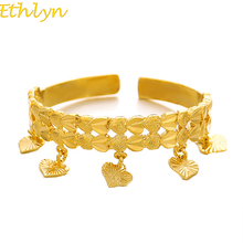 Ethlyn Kids Baby/ Boys/ Girls Jewelry Bangles Gold Color Kids Bangle & Bracelets Ethiopian Jewelry for Children Christmas Gift
