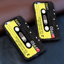 personality Retro tape For iphone 4 4s 5 5s 6 6s 7 plus for Samsung s3 s4 s5 s6 s7 Edge luxury Hard plastic phone case