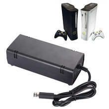 Free Shipping Hot Sale US Plug AC Adapter Charge Charging Charger Power Supply Cord Cable Black For Microsoft For Xbox 360 E