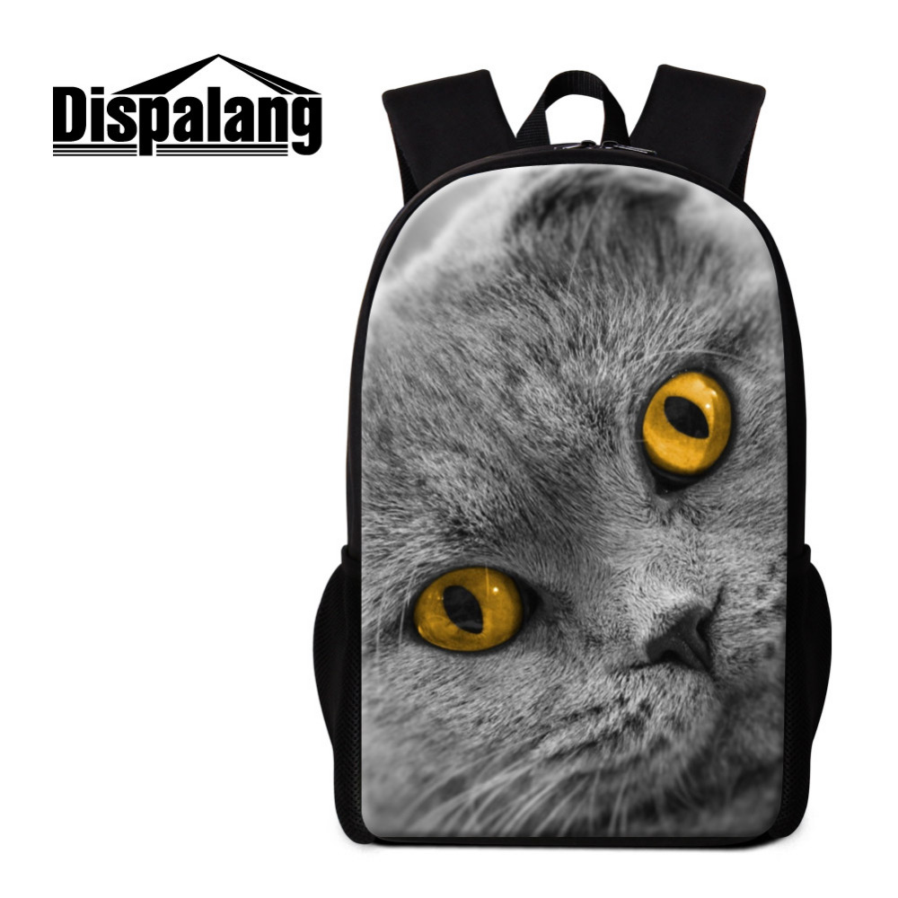 Dispalang School Bags for Teenagers Girls Schoolbag Large Capacity Cute Cat Printing Backpack Womens Rucksack Bagpack BookBag<br>