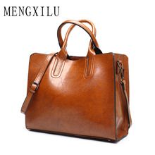 Big Bag Women Leather Handbags Casual Tote Bags Handbags Women Famous Brands 2017 High Quality Designer Women's Handbag Shoulder(China)