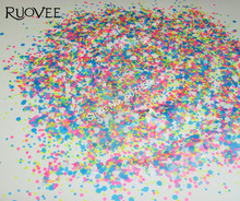 015# NEON Solvent Resistant glitter nail mixed for Gel Polish acrylic nails and make up(Hexagon+Heart)