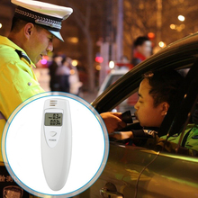 Prefessional Police Portable Breathalyzer Alcohol Tester Analyzer Digital Breath LCD Display Parking Breathalyser Supplies P0.2(China)