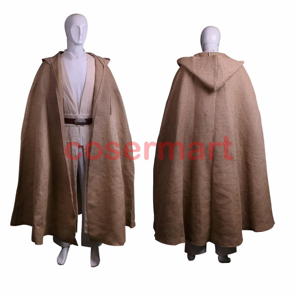 Free Shipping NEW Star Wars Jedi Luke Skywalker Custom Cosplay Costume Made Full Set COS Halloween Costume Christmas (2)