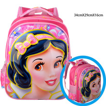 Little Kids Snow White Schoolbag/Girls Princess 3D Printing Backpack/Student Cartoon Designer Book Bags/Children Mochila