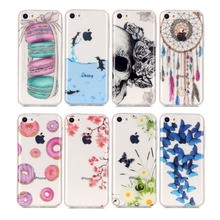 Fashion 3D Skull Relief Painted Clear TPU Case Cover For iPhone 5c Sweet Cake Coque for Apple iPhone 5C Cover