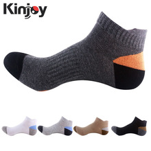 5 colors Brand Quality Men's Sports Socks Cotton Men's Outdoor mountaineering Socks Autumn Winter Basketball Football Socks