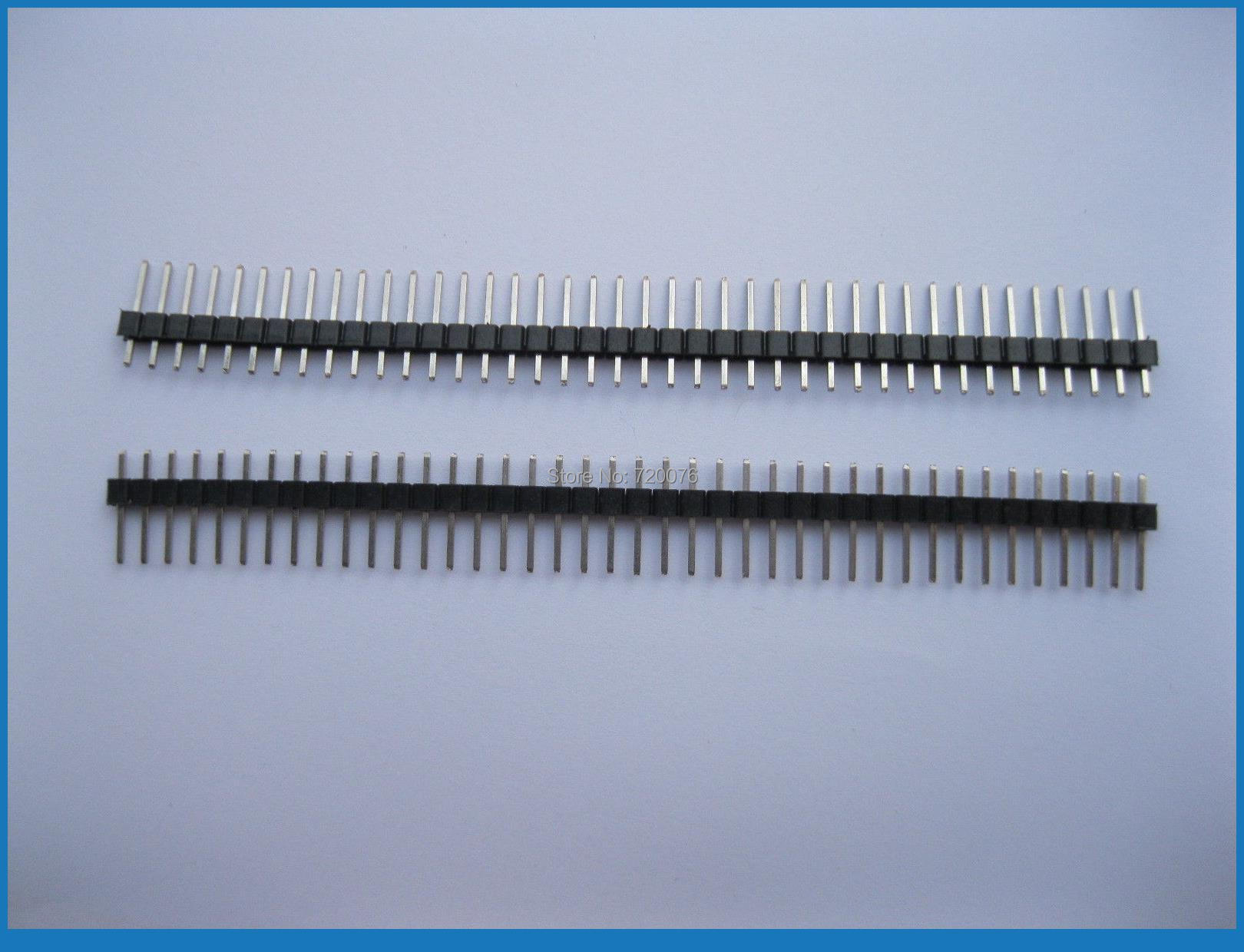 200 pcs 2.54mm Breakable Pin Header 1x40 40pin Male Single Row Strip<br>