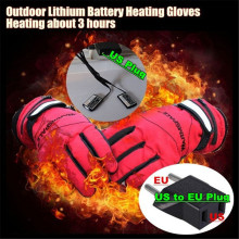 3.7V 2000MAH USB Electric Smart Heated Gloves,Outdoor Sport Skiing Lithium Battery Boy&Girl Glove,Hand Back Self Heating Warm 3H