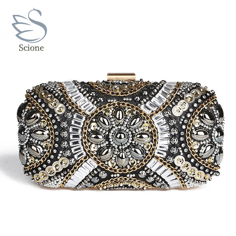 New LUXURY GEM Diamond Flower Crystal Evening Bag Clutch Bags Hot Styling Day Clutches Lady Wedding Purse Bolsa De Festa 695t<br>