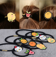 8 Pcs Sweet sun Bow Elastic Hair ropes Kids girls Hair ties Adorable Ponytail Holder Hair Accessories