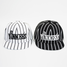 HAPPYTAIL Fashion Boys Striped Yankees Baseball Cap Letter Embroiederd Snapback Caps for Girls Cool Hip Hop Cap for Children
