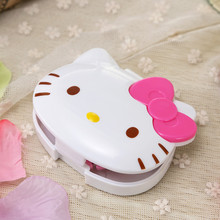 Hello Kitty Kawaii Cartoon Data cable Neatening Storage Box Headphone Winder Earphone Cord Wrap Boxes Organizer Wire Holder